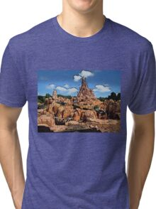 Big Thunder Mountain Cartoon Disney World Disneyland Tri-blend T-Shirt