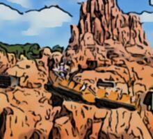 Big Thunder Mountain Cartoon Disney World Disneyland Sticker