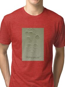 Wishing You Joy Greeting Card - Lily Of The Valley Tri-blend T-Shirt