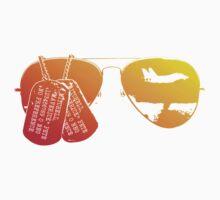 Maverick's Aviators & Dogtags Baby Tee