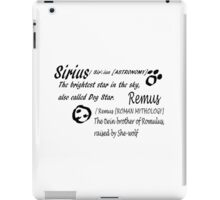 Wolfstar names iPad Case/Skin