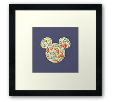 Floral Mouse Ears Framed Print