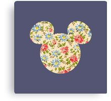 Floral Mouse Ears Canvas Print