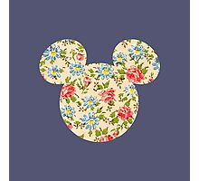 Floral Mouse Ears Photographic Print