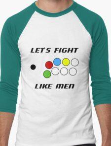 Arcade Stick: Let's Fight Like Men Men's Baseball ¾ T-Shirt