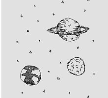 Grayscale: Space Doodle Phone Case by Alexandra Markova