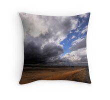 Stormy Plains Throw Pillow