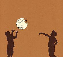 Eye Ball, Brown by madsketcher