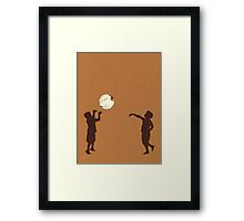 Eye Ball, Brown Framed Print