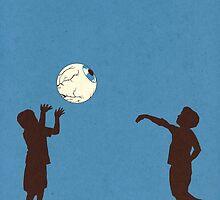 Eye Ball, Blue by madsketcher