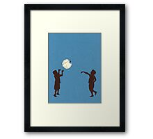Eye Ball, Blue Framed Print