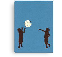 Eye Ball, Blue Canvas Print