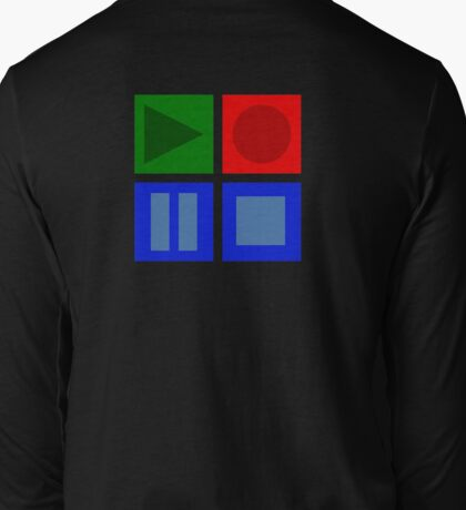 Play, Pause, Record, Stop Long Sleeve T-Shirt