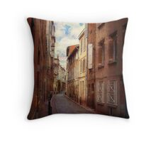 The road is narrow Throw Pillow