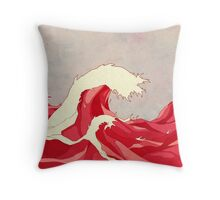 Cherry Waves Throw Pillow