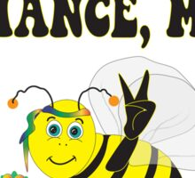 Let's Give Bees A Chance, Man!  Sticker