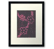 Pink Sakura in shade Framed Print