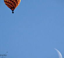 Fly Me To The Moon  - Hot Air Balloon Sticker