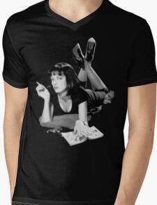 Pulp Fiction- Mia Wallace Mens V-Neck T-Shirt