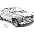 Auto Classics In Pencil by Joseph Colella