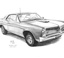 Auto Classics In Pencil by Joseph Colella