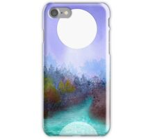 Bright Moon Kissing the Earth iPhone Case/Skin