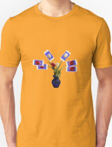iphone flowers in vase black tee T-Shirt