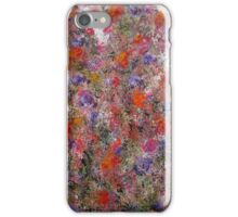 My Mind Garden 2, abstract floral art comtemporary painting iPhone Case/Skin