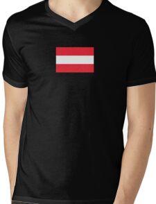 Oesterreichische Fahne - Austrian World Cup Flag - Österreich T-Shirt Mens V-Neck T-Shirt