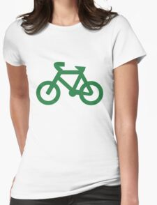 Bike in Green Womens Fitted T-Shirt