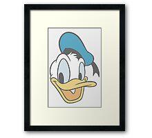 Donald Duck dot pattern Framed Print