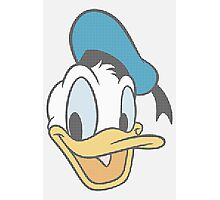 Donald Duck dot pattern Photographic Print
