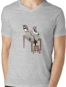 Party Animals Series: The Penguins Mens V-Neck T-Shirt