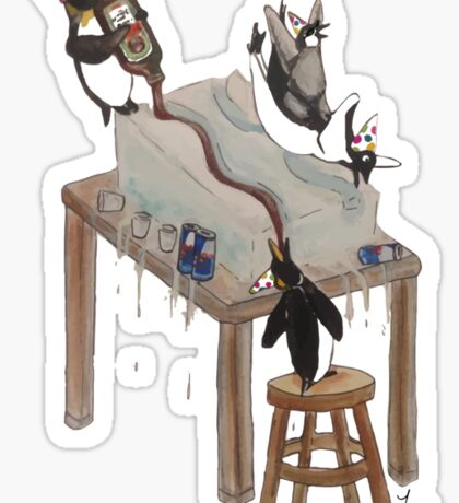 Party Animals Series: The Penguins Sticker