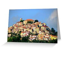 Hilltown of Tuscany Greeting Card