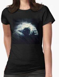 Hands and Light in Photography Womens Fitted T-Shirt