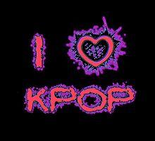 I LOVE KPOP SPIKE - PINK by Kpop Seoul Shop