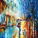 Stroll With A Friend — Buy Now Link - www.etsy.com/listing/175664604 by Leonid  Afremov