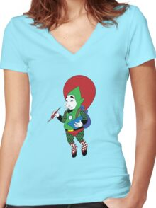 Tingle - Hylian Court Legend of Zelda Women's Fitted V-Neck T-Shirt