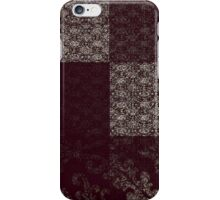 Black and Gray Crazy Quilt, Hot iPhone Case/Skin