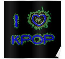 I LOVE KPOP SPIKE - BLUE Poster