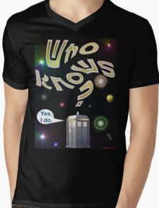 Who Knows? - Doctor Who T-shirt Design Mens V-Neck T-Shirt