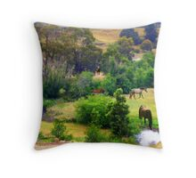 Horses for Courses!!  Throw Pillow
