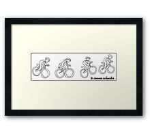 Happy Mountain Biker Framed Print