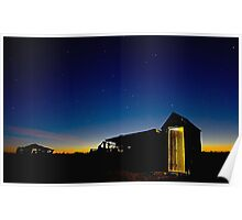 Outhouse Sunset Poster
