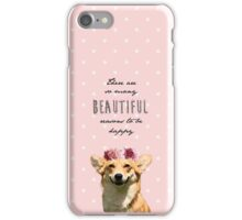 Floral Crown Corgi iPhone Case/Skin