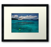 Radiance of the Seas, Champagne Bay Framed Print