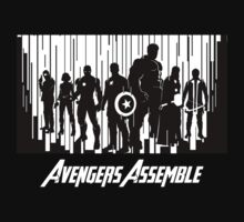 Avengers Assemble in black by avasponge