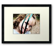 Holly has a Ribbon in her eyes Framed Print