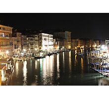 The Grand Canal At Night Photographic Print